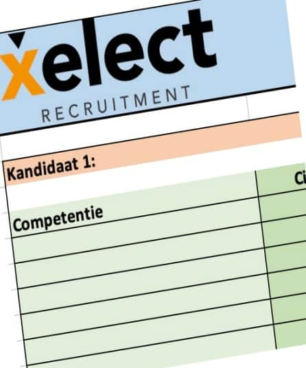 Xelect competentiematrix